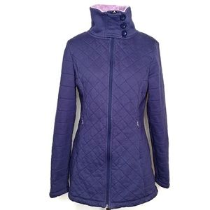 The North Face purple Caroluna quilted jacket